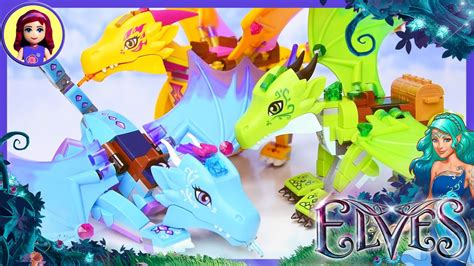 Lego Elves Dragon Comparison Water Fire Earth - Kids Toys