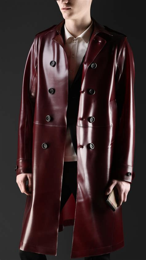 Lyst - Burberry Translucent Rubber Trench Coat in Purple