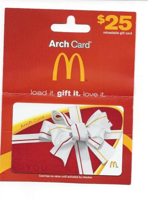 Free: $25 McDonald's Gift Card / Arch Card - Gift Cards