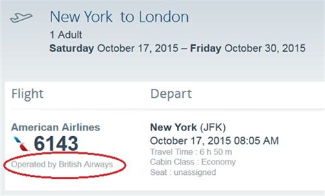 Codeshare − Travel information − American Airlines