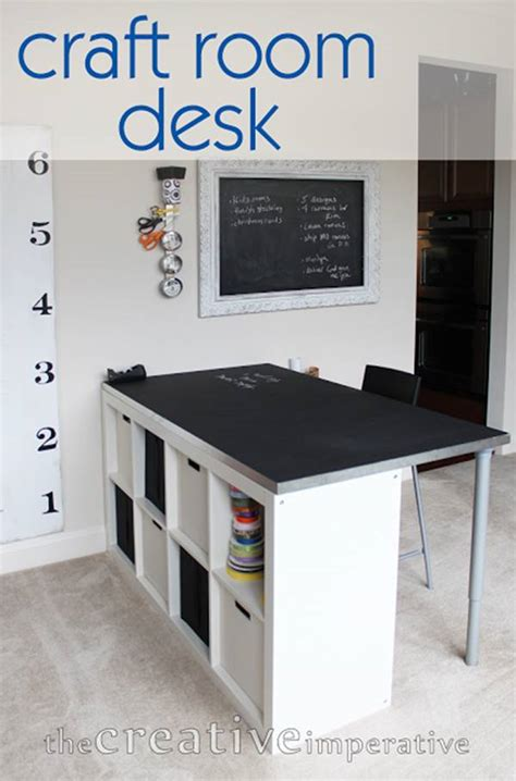 25+ Creative DIY Projects to Make a Craft Table - i
